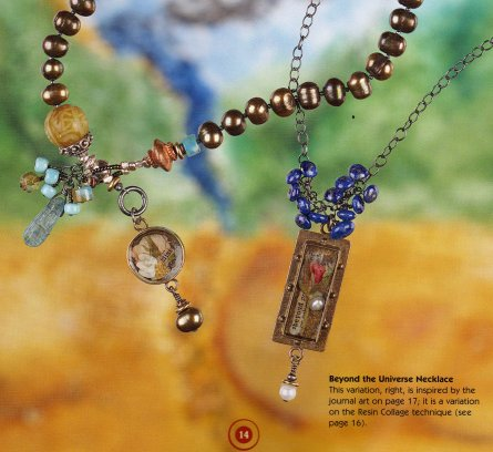 Collage Pendant Necklace by June Roman