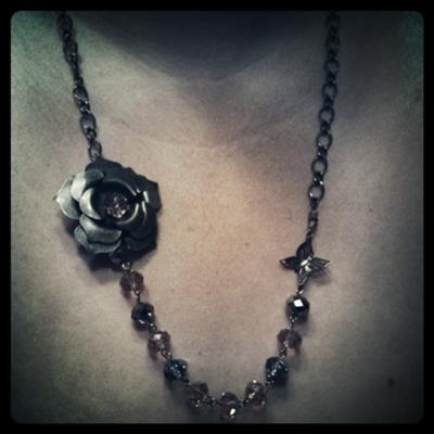 Beautiful antique necklace by Katie~