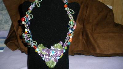 Wire Crocheted Necklace