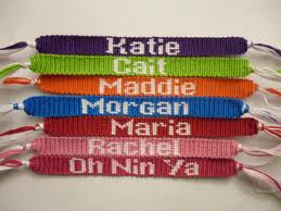 Names or Saying On Friendship Bracelets