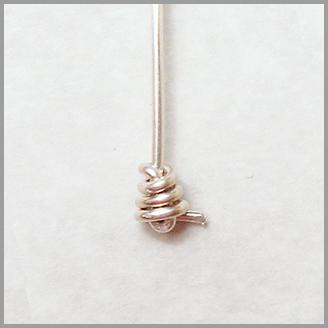 Knotted Wire Headpin Step 4