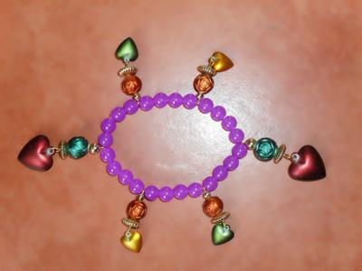 inspired with violet color with charm