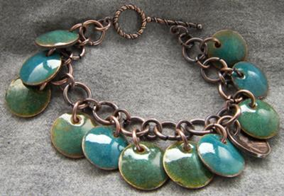 Enameled Pennies Bracelet